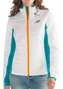 """Miami Dolphins Women's NFL G-III """"Fullback"""" Full Zip Quilted Jacket"""