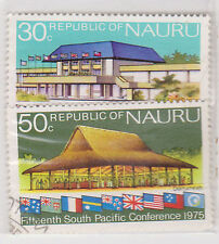 (LW36) 1975 Nauru 30c& 50c south pacific conference