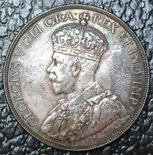 CANADIAN GEM 1936 - $1 DOLLAR - SILVER - George V-Gorgeous Rainbow - WWII era