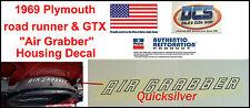 1969 Plymouth Road Runner GTX Air Grabber Housing Decal 2949410 NEW MoPar USA