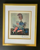 PABLO PICASSO 1948 BEAUTIFUL SIGNED PRINT MATTED 11 X 14 + LIST  $995