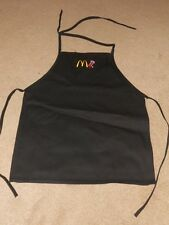 McDonald's Apparel Collection BLACK APRON UNIFORM Never Used NOS 23 x 20