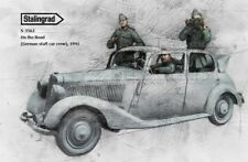 1/35 1:35 WWII Resin Figure Model Kit On the Road (German staff car crew), 1941