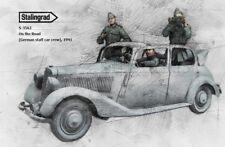 1:35 1/35 la Segunda Guerra Mundial De resina Figura MODELO CONJUNTO en la carretera (alemán personal coche Crew), 1941