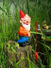 Gartenzwerg-Angler mit Angel u.Fisch-Ostsee-Nordsee-maritim-niedlich-25 cm
