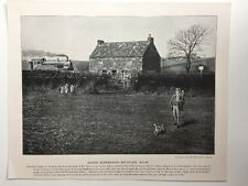 Victorian Print: Andre & Sleigh #PF: George Stephenson Birthplace, Wylam