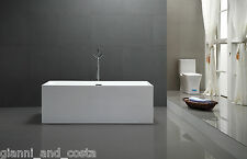 Bathroom Acrylic Free Standing Bath Tub Thin Edge 1600 x 750 x 600 Freestanding
