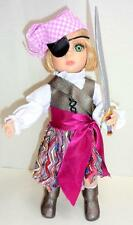 """Halloween Patsy Pirate Tonner 10"""" Doll Bend Wrist Pink Peppermint Costume Sword"""