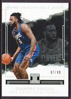 2017-18 Panini Impeccable Holo Silver #20 DeAndre Jordan 07/49 LA Clippers