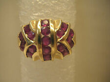 14KT Round Siam Ruby Dome Ring Approx. 2 ct Sz. 7