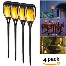 LED Solar Power Torch Light Control Dancing Flame Outdoor Waterproof Garden Lamp