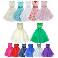 Flower Girl Dress Tulle Princess Tutu Gown Birthday Wedding Pageant Holiday Prom