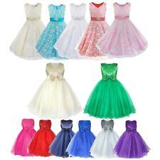 Flower Girl Dress Tulle Princess Tutu Dress Gown Birthday Wedding Formal Holiday