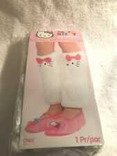 Hello Kitty Childs Leg Warmers - White Faux Fur, NEW Costume Dress Up