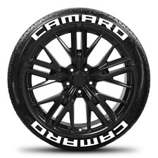 Camaro - Permanent Tire Stickers -1.25in - 16in-18in Wheels - 8 Pack