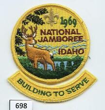 DEALER DAVE Boy Scout 1969 NATIONAL JAMBOREE PATCH & WIDE GAME SEGMENT (734)