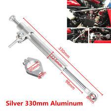 Silver 330mm Aluminum Motorcycle ATV Steering Damper Fork Stabilizer Universal