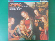 BACH MOTETTEN BWV 225-230 NIKOLAUS HARNONCOURT BOX 2 LP 1980 COME NUOVO