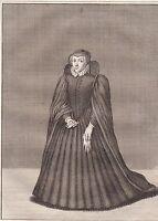 Portrait XVIIIe Marie de Médicis Caterina Maria Romola di Lorenzo de Medici