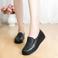 Casual Women's Soft Bottom Comfortable Walking Work Shoes Slip-on Loafers Flat