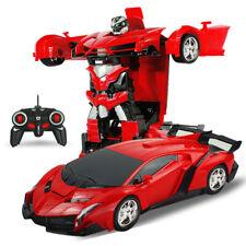 2 en1 RC Sport Transformation Voiture Robot Télécommandé Déformation Auto Jouet