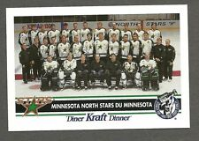 "1992-93 Kraft Dinner Minnesota North Stars ""White-Logo"" Proof & Corrected,Modano"
