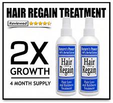 2X HAIR REGAIN ® HAIR REGROWTH TREATMENT stop loss receding hairline thin crown