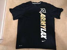 Army Black Knights Lacrosse Dri Fit Size Medium Black T Shirt