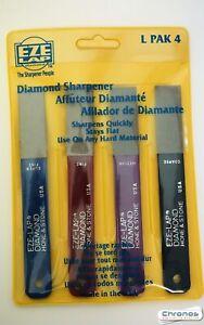 Eze-Lap Diamond Hone & Stone 4  pack set LPAK4 Super Fine , Fine Medium & Coarse