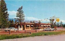 Autos Skookum Inn BC Lake Windemere Canada Shell Gas Station Postcard 20-11420