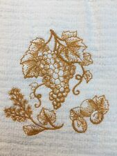 Embroidered Bar Hand Towel  BS1042 BUNCH OF  GRAPES