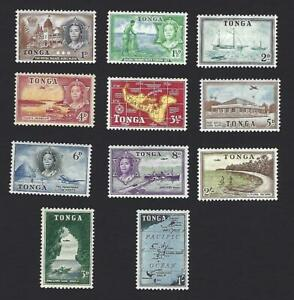 TONGA 1953, 11 DIFFERENT PICTORIAL STAMPS TO 2/-, SG. 101 - 111, CAT £26+, MH