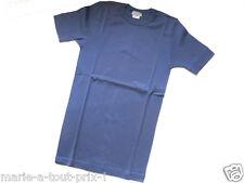 ARMOR LUX TEE-SHIRT homme manches courtes CHAUD 100% coton HIVER T1 S bleu moyen