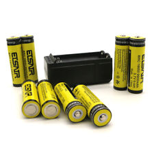 8pcs 3.7V 2900Mah Li-Ion Rechargeable Battery Charger Set Flashlight Headlight