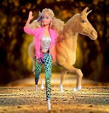"""Mattel Vintage Barbie Blonde Doll with her Pet Horse / approx. 11"""" high"""