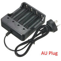 4.2V Smart Fast Battery charger AU For 18650 Rechageable 3.7V Li-Ion Batteries