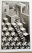 M C  ESCHER Cycle Poster Reprint Offset Lithograph 16x11 Unsigned