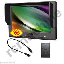"""Lilliput 7"""" 667GL-70NP/H/Y Camera HDMI field Monitor +Canon 5D-II LP-E6 adapter"""