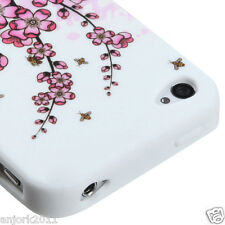 Apple iPhone 4 4S Soft Silicone Case Skin Cover Spring Flowers
