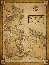 GIANT FRIDGE MAGNET GAME OF THRONES MAP OF WESTEROS AND FREE CITIES GOT GIFT
