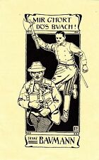 EX LIBRIS.INCISORE F.POLEDNE 1903 ,IL LADRO DI LIBRI