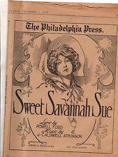 1913 Sweet Savannah Sue Newspaper Insert - Ford and Atkinson