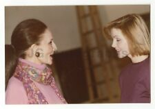 Jacqueline de Ribes & Priscilla Presley - Original Vintage Photo Peter Warrack