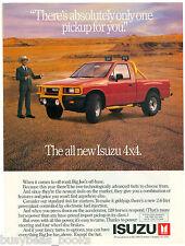 1988 ISUZU Pickup advertisement, Isuzu 4x4 pickup truck