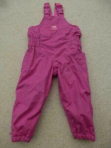 JOJO MAMAN BEBE Waterproof Fleece Lined DUNGAREES Trousers 12-18m  All-In-One