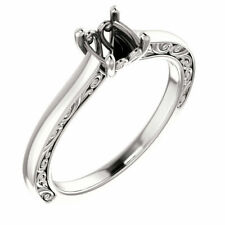 14k White Gold Round Diamond Solitaire Bridal Wedding Engagement Ring