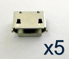 5x connecteur à souder micro USB type B / 5x connector for solder SMT socket