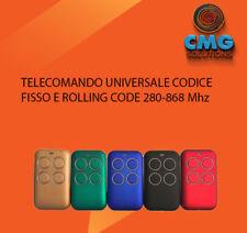 TELECOMANDO CANCELLO UNIVERSALE  CON AUTOSCAN ROLLING CODE E FISSO 280-868 Mhz