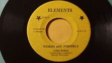 """Mike Forbes -Words Are Possible Killer /Roots Reggae 7"""" on Elements Label"""