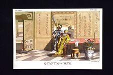Quante-Cong Impero Cinese Incisione colorata a mano del 1820 Mitologia Pozzoli
